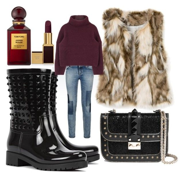 """""""Untitled #9"""" by badgalm ❤ liked on Polyvore featuring Armani Jeans, Valentino and Tom Ford"""