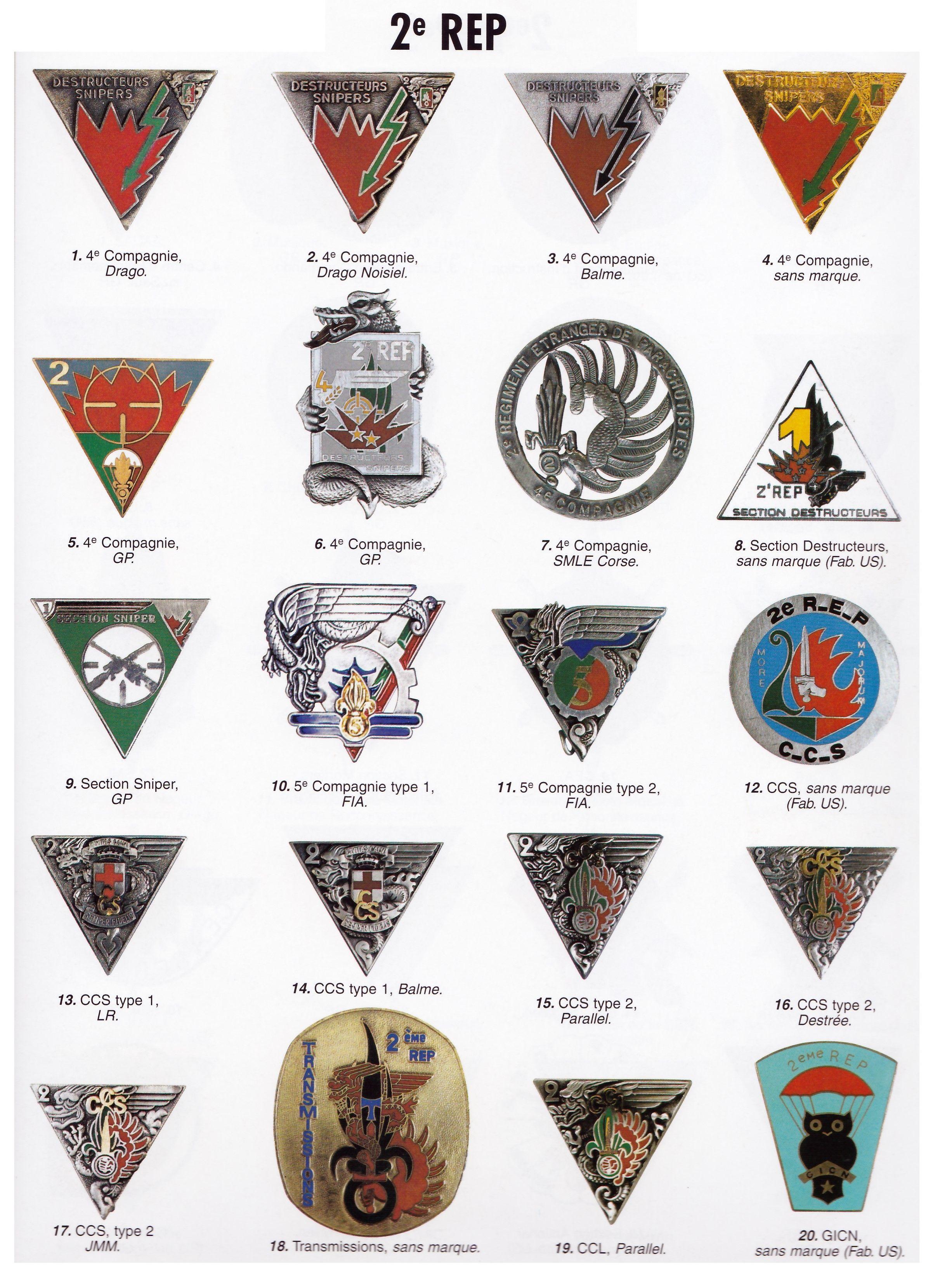 Insignes 2e Rep Legion Etrangere La Legion Etrangere Insignes