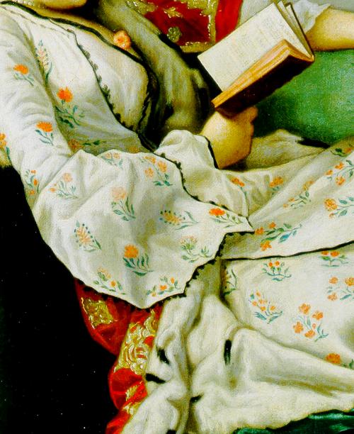 Jean-Etienne Liotard; detail of Portrait of Maria Adelaide of...