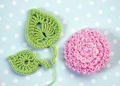 Kostenlose Häkelanleitung Dahlie Mit Blatt Flowers Crochet And