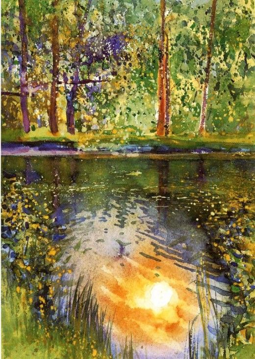 How To Paint Water Reflections In Watercolor Painting