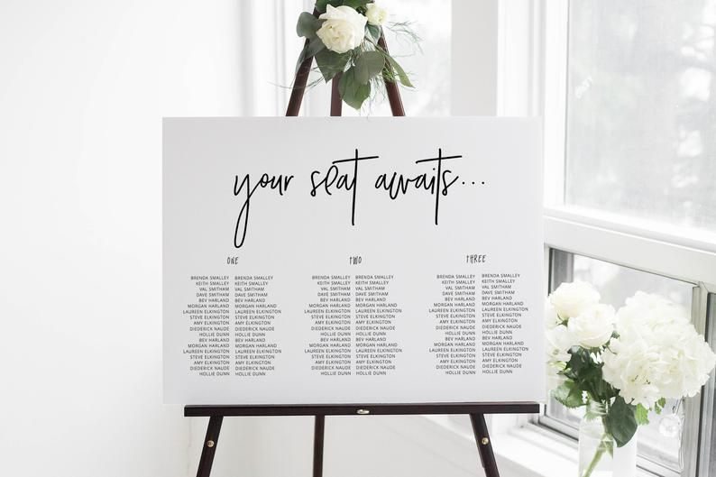 A1A2 Personalised watercolour wedding seating chart table plan blush wedding watercolour wedding seating plan