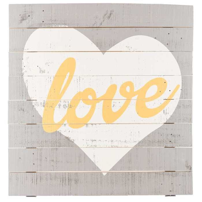 Love With Heart Wooden Sign Wooden Signs Rustic Wood Wall Decor Rustic Wood Walls