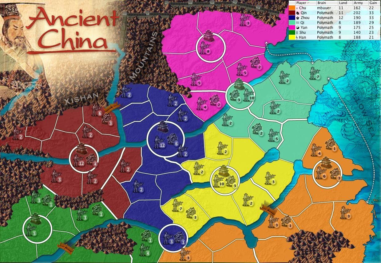China Map Game.Ancient China Version Of Dice Wars Risk Education Ancient China