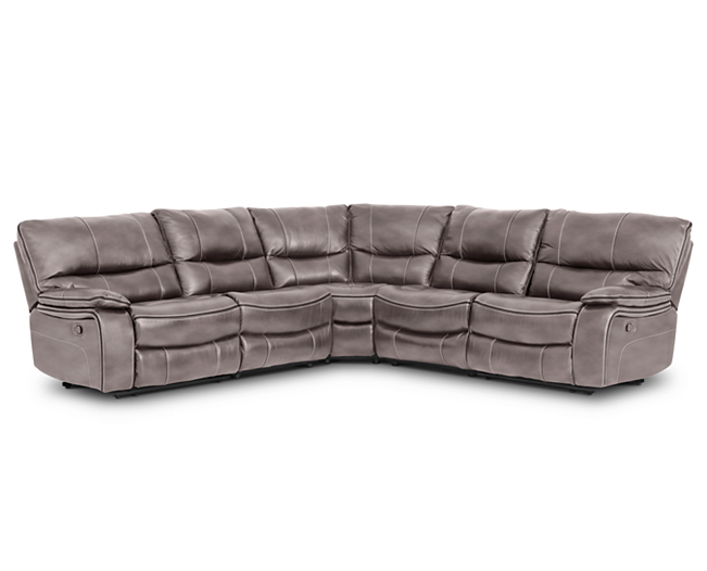 Sectionals Aviator 5 Pc Sectional Leather Luxury With A Cool Vibe