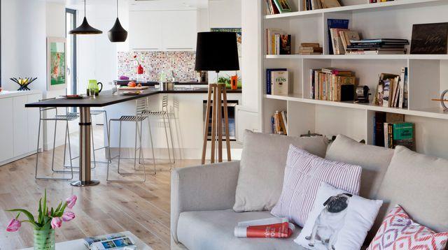 Appartement Paris avec cuisine ouverte sur le salon Deco