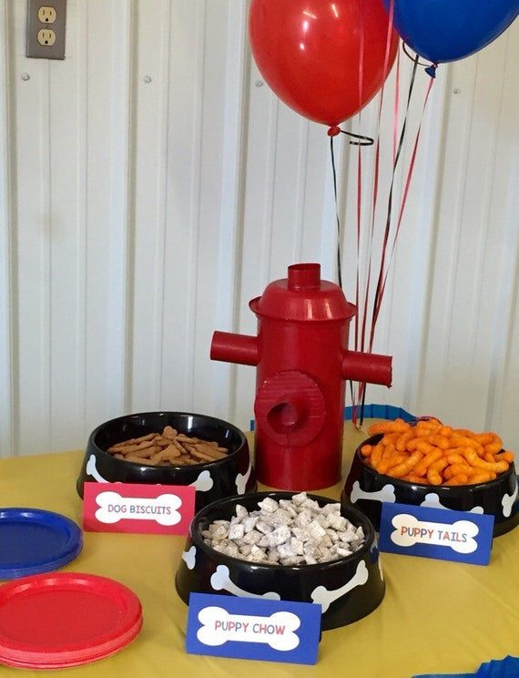 Paw Patrol Inspired Birthday Party Decoration, Personalized Paw Patrol Inspired Food Cards, Paw Patrol Tent Cards (Set of 4) - Paw patrol birthday party, Paw patrol birthday, Puppy birthday parties, Birthday party decorations, Dog birthday party, Paw patrol decorations - salesInstagram  @little michaels Share pictures using little michaels