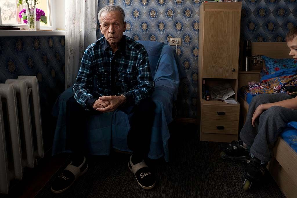 Victor Koshevoy, 76 was a liquidator of the Chernobyl accident and now suffers from a heart condition that keeps him from moving around. His prognosis is rather dim. Before moving to Slavutich, he lived in Pripyat at the time of the accident, and was involved in the clean up. While he blames his ...
