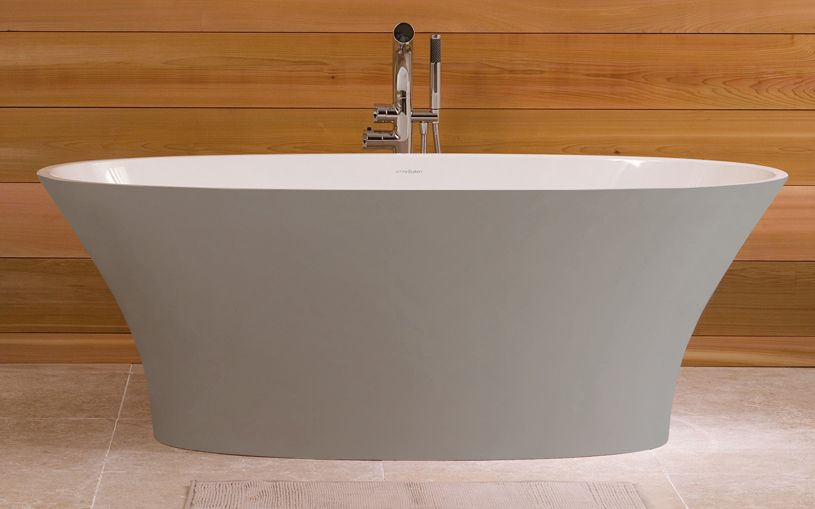 Victoria Albert Freestanding Tub Ionian In Stone Gray With
