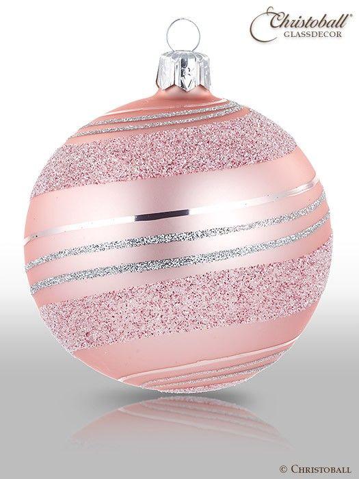 Pirouette Weihnachtskugel Rosa Bolas De Navidad Navidad Rosa Decoracion De Unas