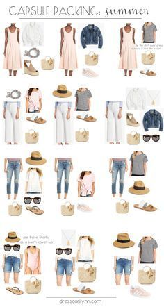 summer capsule packing #travelwardrobesummer