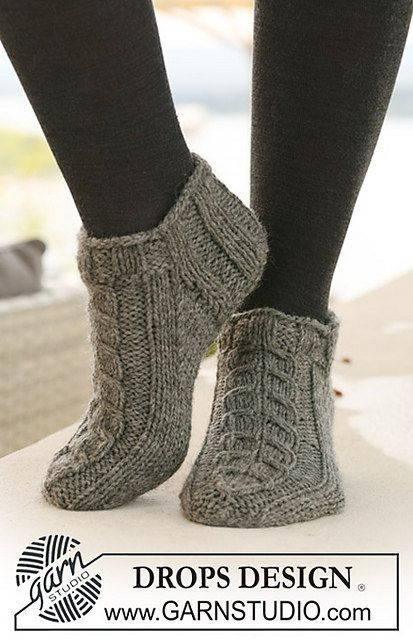 Ready To Ship Hand Knitted Grey Wool Short Sock Slippers For