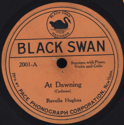 """Black Swan 1921 1st release: Revella Hughes """"At Dawning."""" Excellent research article on the label: http://www.journalofamericanhistory.org/teaching/2004_03/article.html #blackhistorymonth #78rpm #gospel #blues #jazz"""
