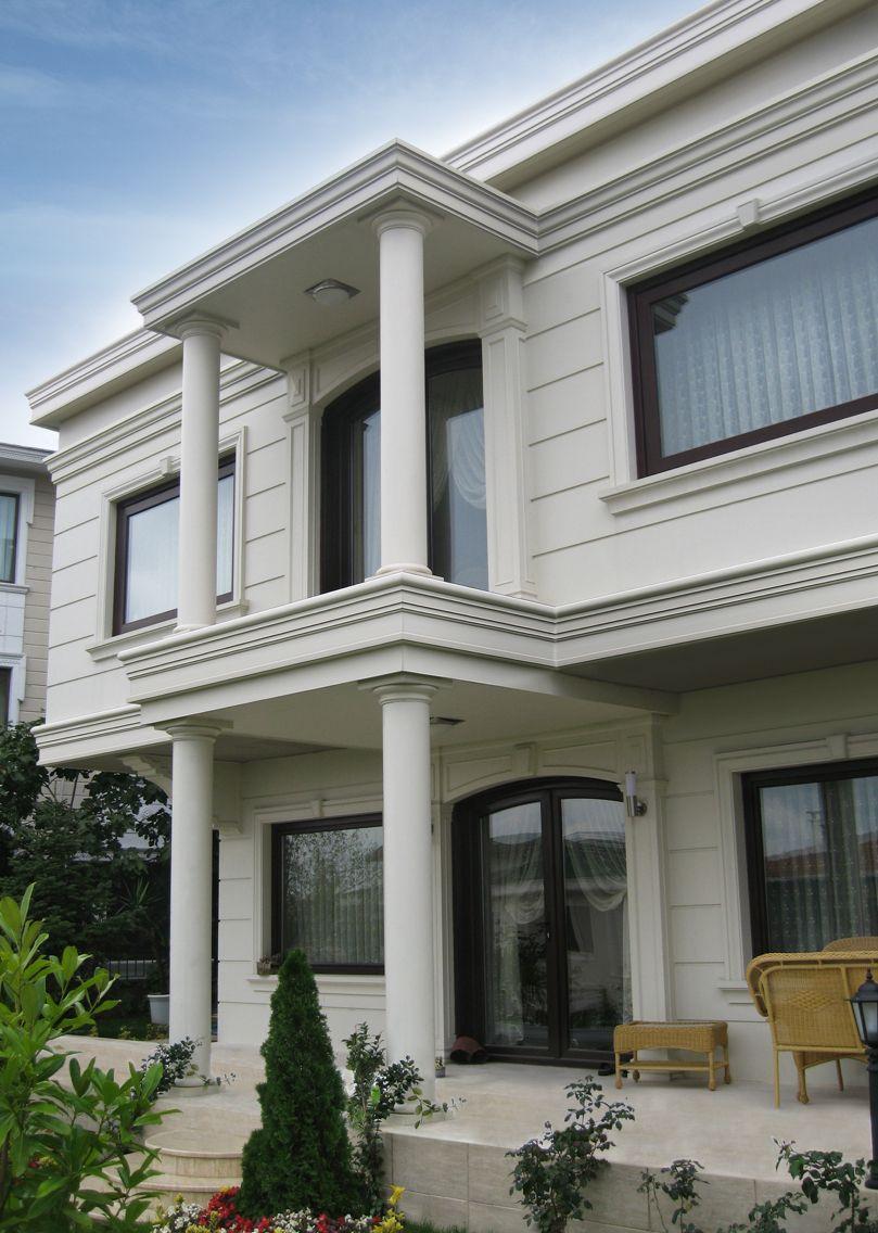 Exterior modern siding window design  villa emirgan istanbul Üysm fiberglas dış cephe süsleme İmalat