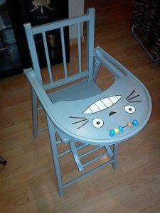 Relooker Une Vieille Chaise Haute Facon Totoro Chaise Haute Chaise Haute Bebe Chaise