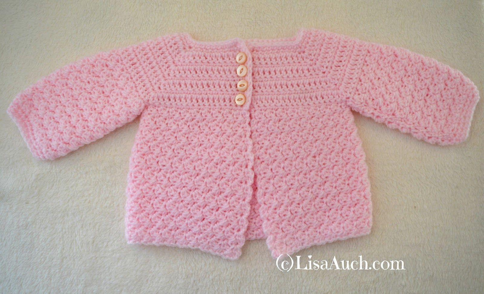 Crochet Baby Cardigan Easy Free Pattern | saco | Pinterest | Crochet ...