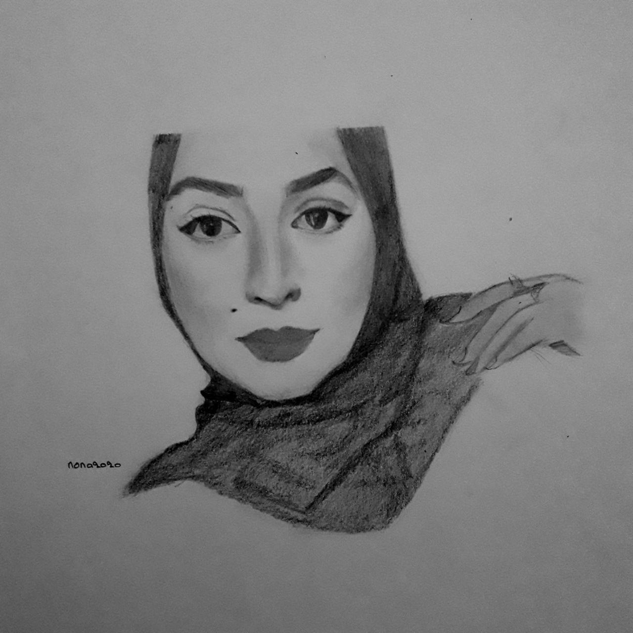 رسم بقلم الرصاص Cool Drawings My Drawings Female Sketch