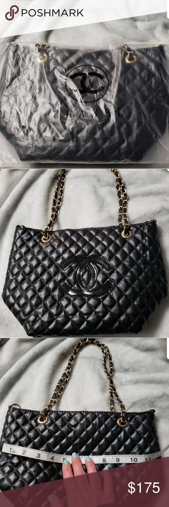 c750013ec99c11 Chanel VIP Gift bag Precision makeup VIP gift! Beautiful black with gold  accents. Also has an extra strap. Only opened for pics. CHANEL Bags  Shoulder Bags