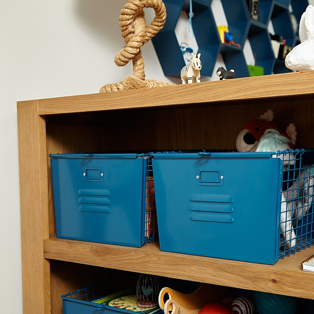 Shop Saved by the Cube Bin Locker Basket (Red-Orange). | Kid Rooms ...