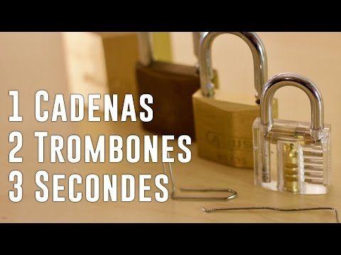Comment Crocheter Un Cadenas En 3 Sec Avec Un Trombone Tuto Youtube Comment Crocheter Trombone Tuto
