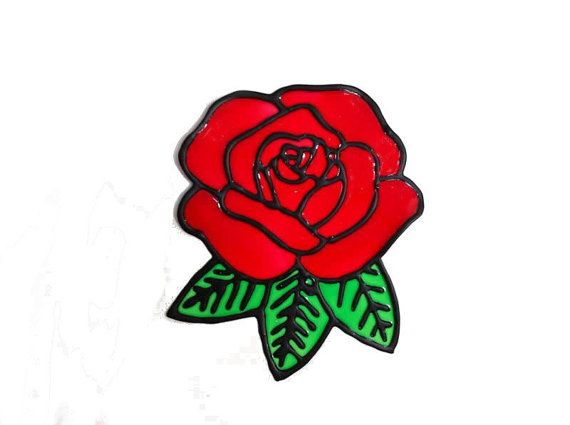 Home decal decor red rose peelable sticker window decal suncatcher window cling decoration mirror decal