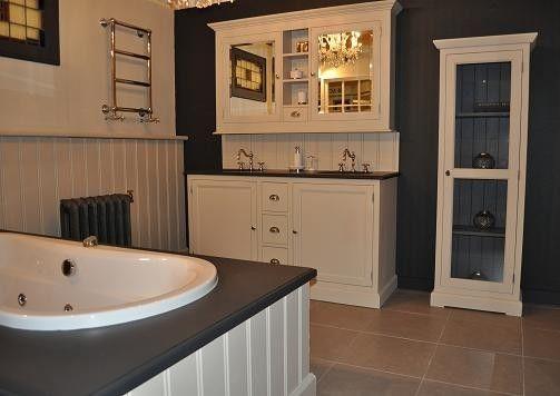 Landelijk badkamer meubel 160 cm met spiegelkast Van heck experience ...