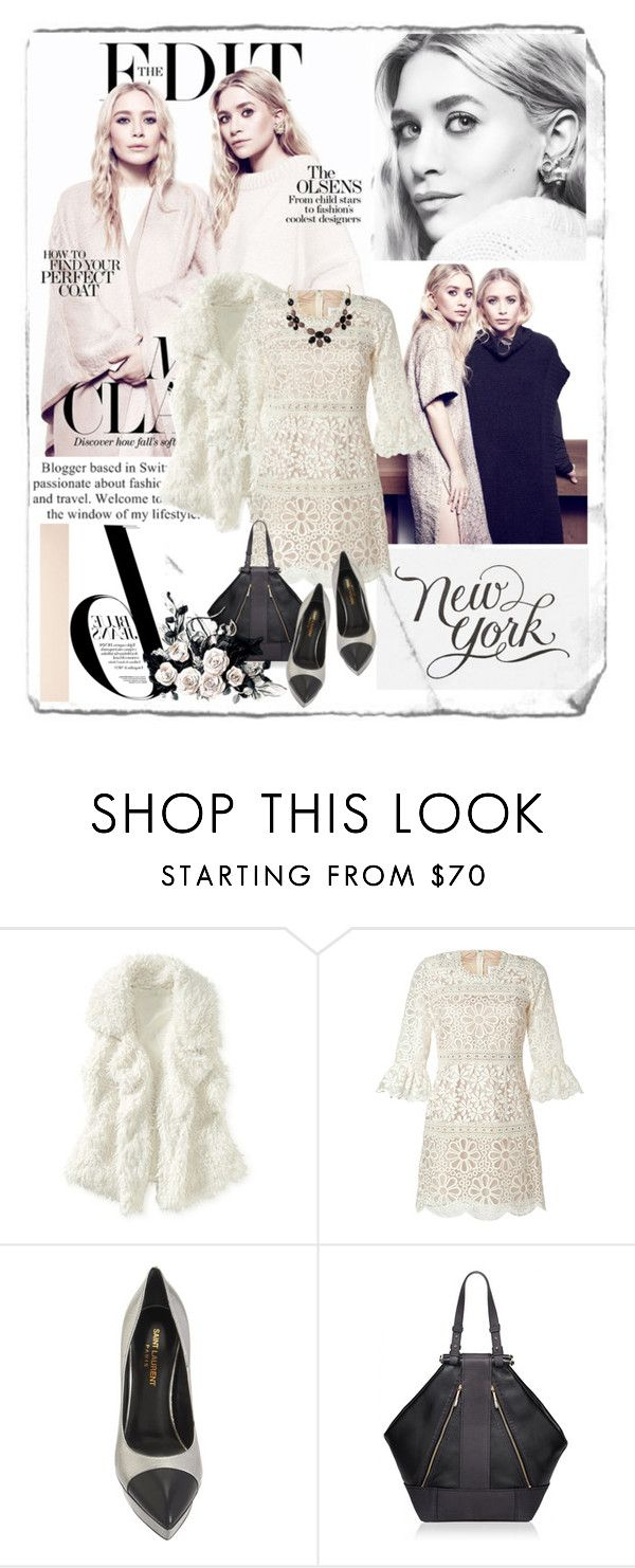 """""""Mary-Kate and Ashley Olsen"""" by ladydzsen ❤ liked on Polyvore featuring Nico, HUGO, Olsen, Aéropostale, Anna Sui, Yves Saint Laurent, Matthew Williamson and Humble Chic"""
