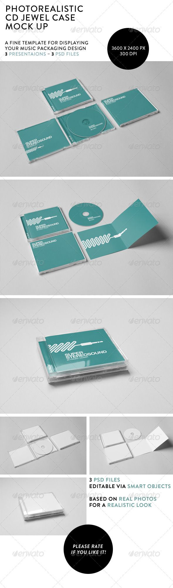 realistic cd jewel case mock up discs packaging design art