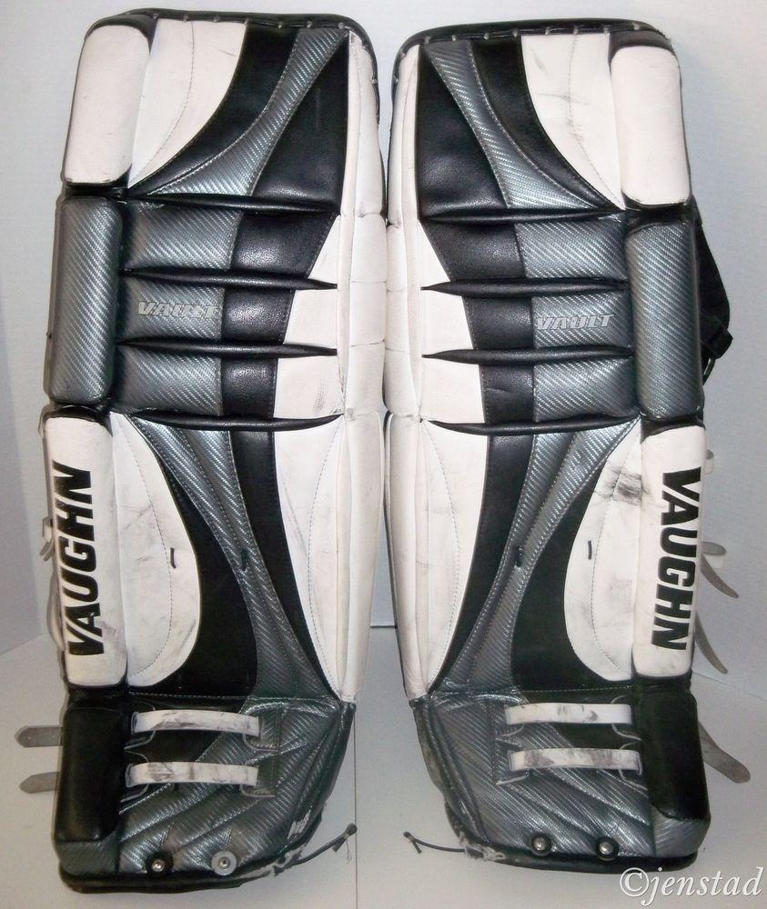Vaughn Vault Goalie Goal Leg Pads 34 Ice Or Roller Hockey Goaltender Gear Used Vaughn Hockey Goalie Hockey Goalie