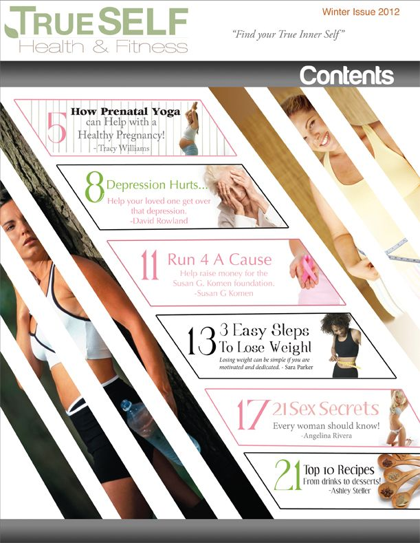 b0d0e9b65bb Health   Fitness Magazine Contents Page.