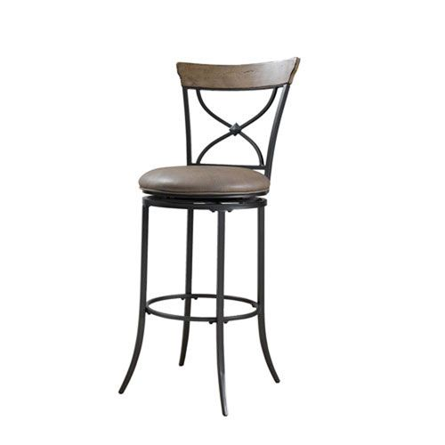 River Station Desert Tan X Back Bar Stool Bar Stools Swivel Bar