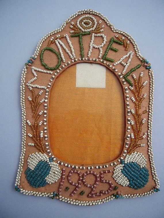 Native American Wall Hangings 1925 iroquois beaded frame souvenir montreal native american
