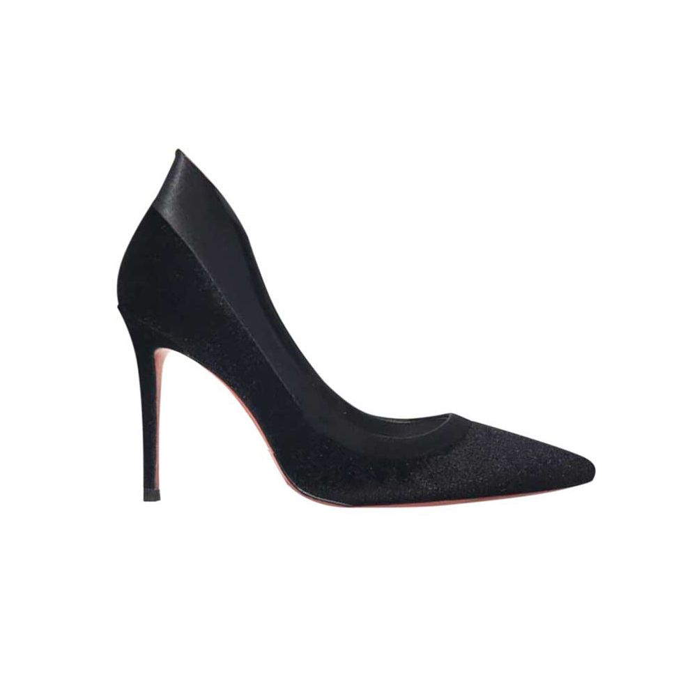 MUNE Side Cut Out Leather Pumps@