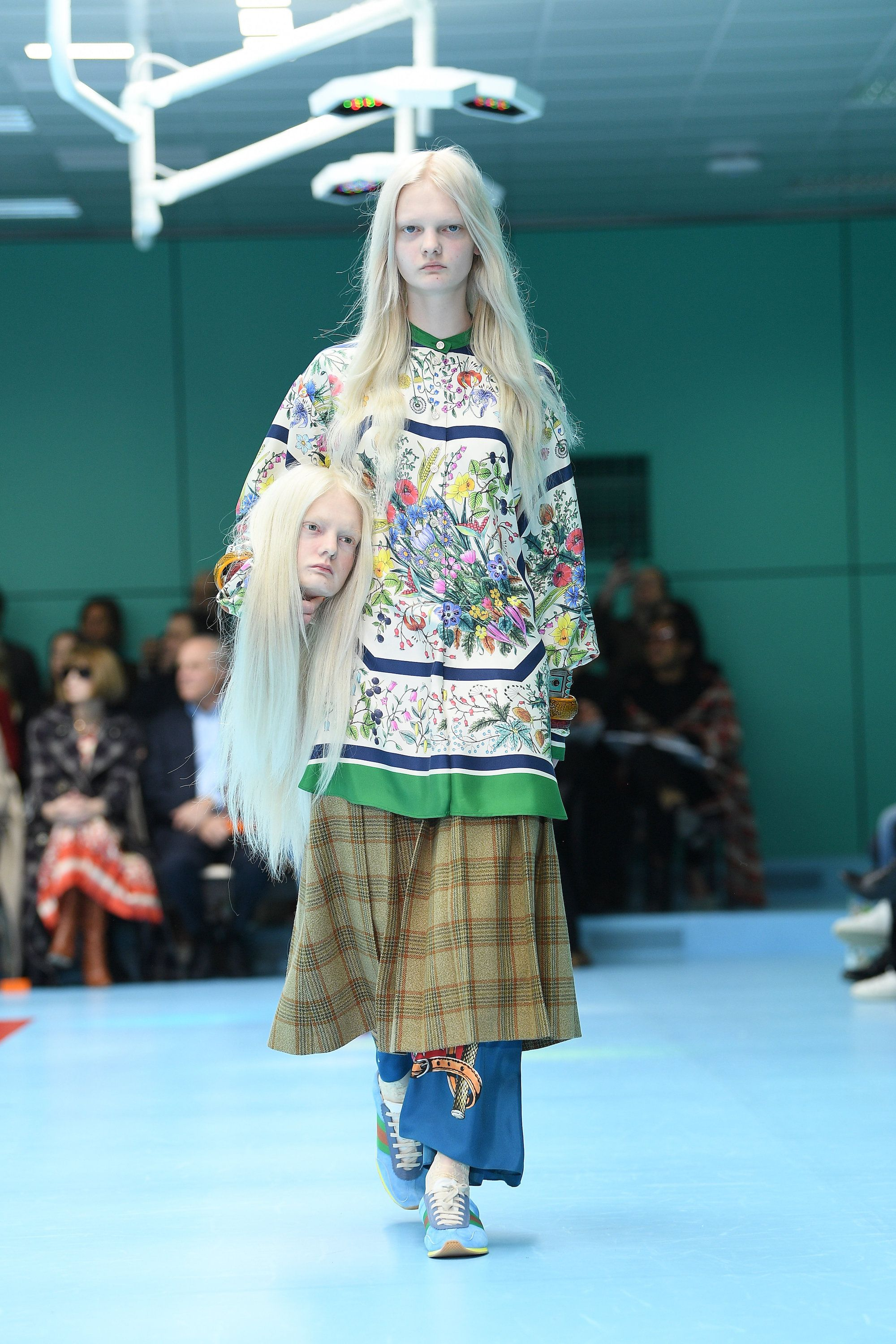 Gucci models carried severed heads on the runway weird