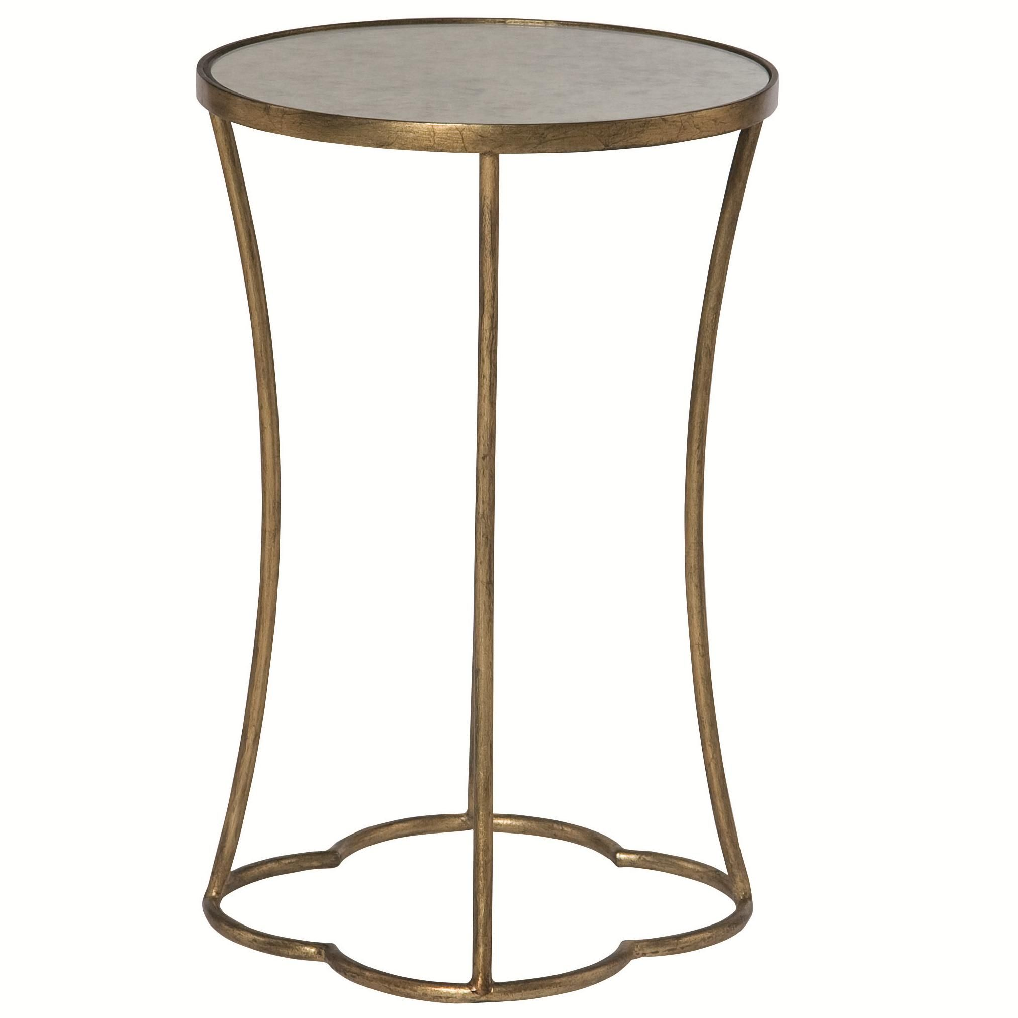 Interiors   Accents Kylie Round Accent Table With Antique Mirrored Top   Furniture  Barn U0026 Manor