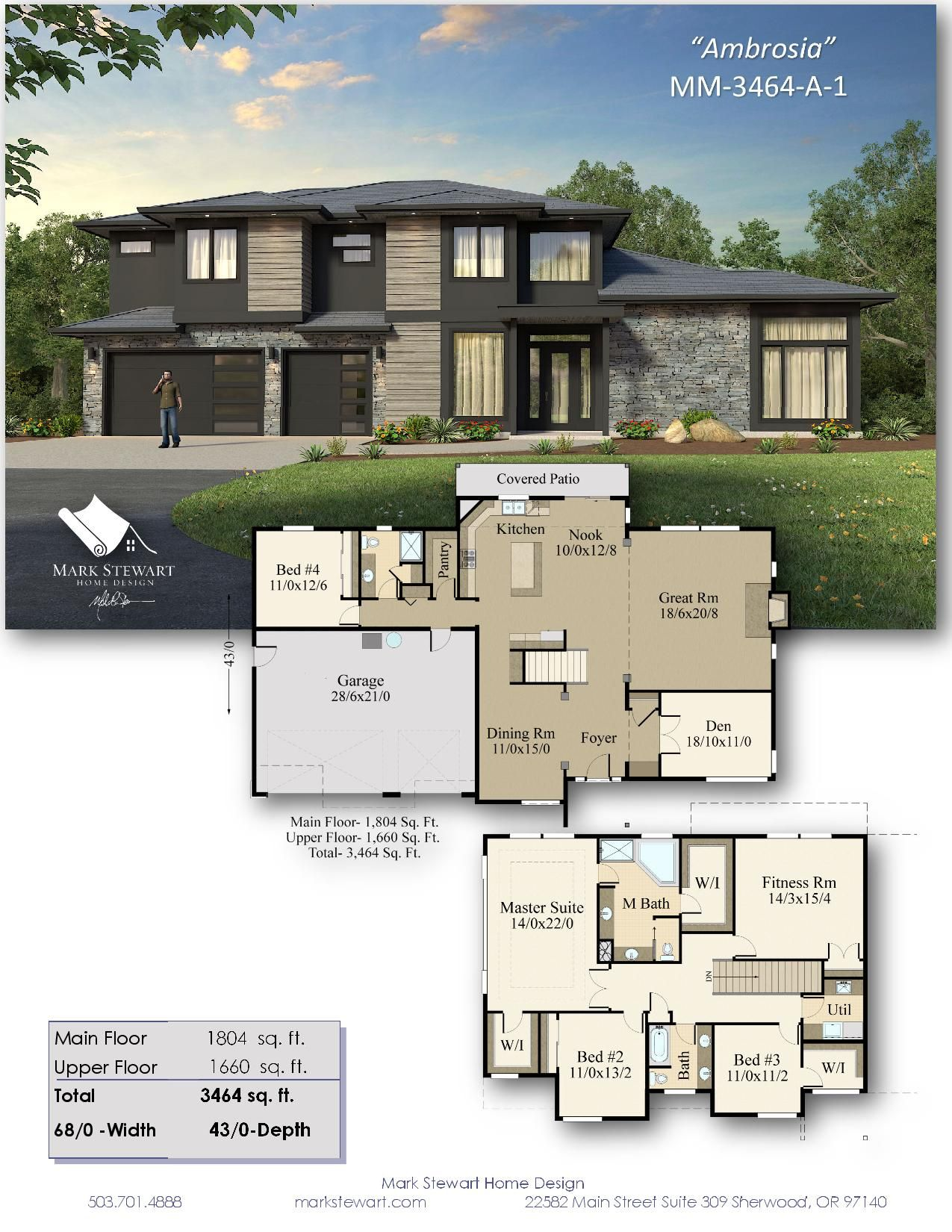 Ambrosia By Mark Stewart Home Design Modern House Floor Plans House Plans Mansion Craftsman House Plans