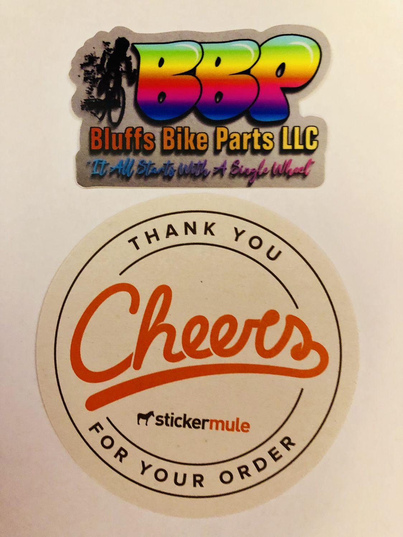 2019 bluffs bike parts sticker