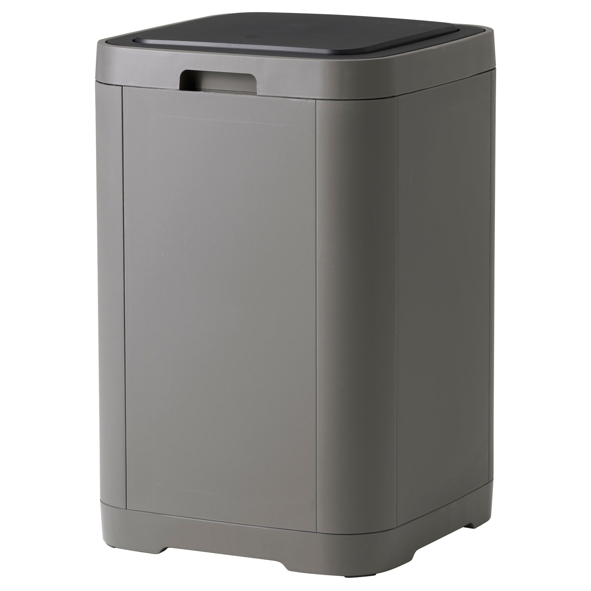 Ikea Tonne Gigantisk Touch Top Trash Can Dark Gray Ikea Shopping List