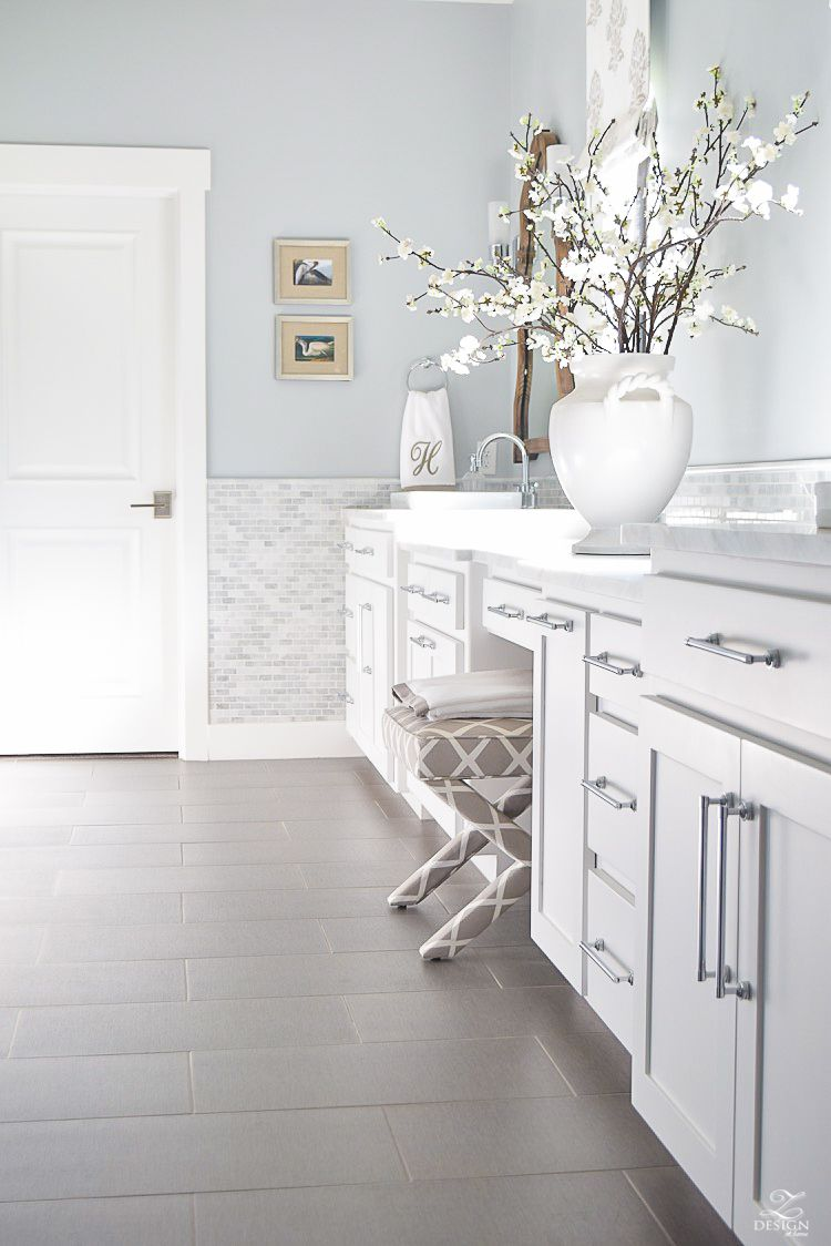 Favorite Paint Colors | White cabinets, White paints and Marbles