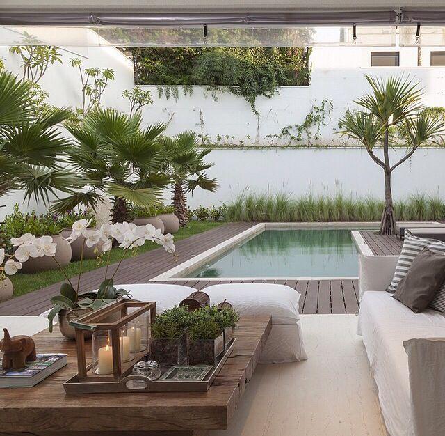 Terraza piscina pinterest terrazas piscinas y jard n for Decoraciones de patios y terrazas