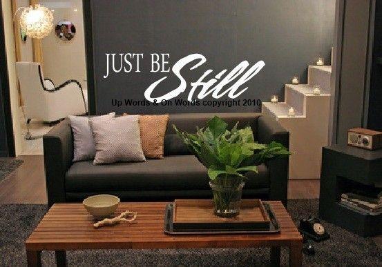 Decorative Vinyl Lettering-Just be Still