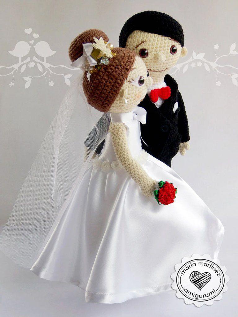 Novios Crochet Patron Gratis Maria Martinez Amigurumi | Novios ...