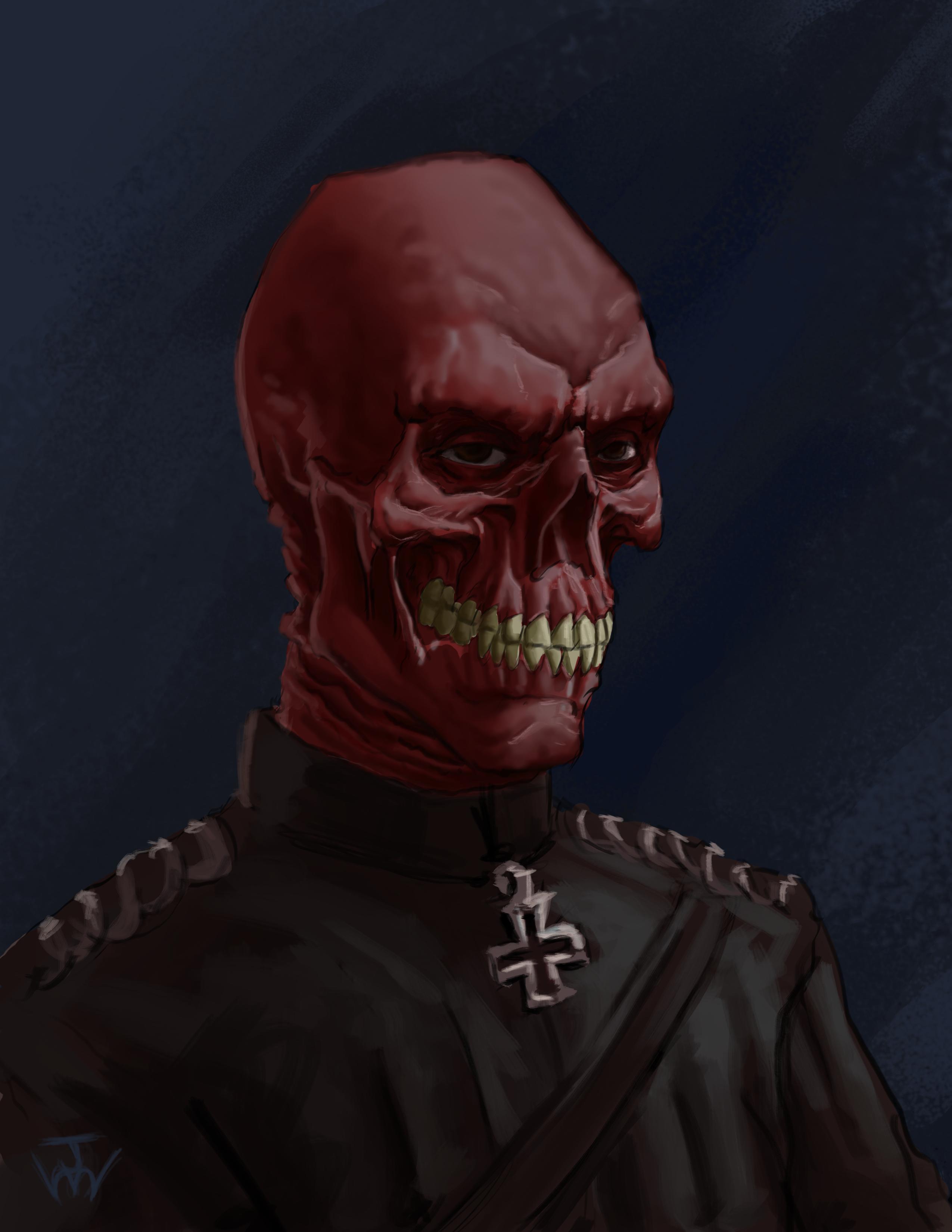 Red Skull Sketch Skull Sketch Red Skull Skull