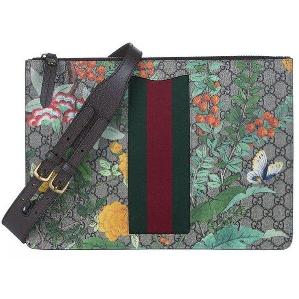 Gucci Floral Messenger Bag (43,425 DOP) ❤ liked on Polyvore featuring men's fashion, men's bags, men's messenger bags, mens canvas messenger bag and gucci mens messenger bag