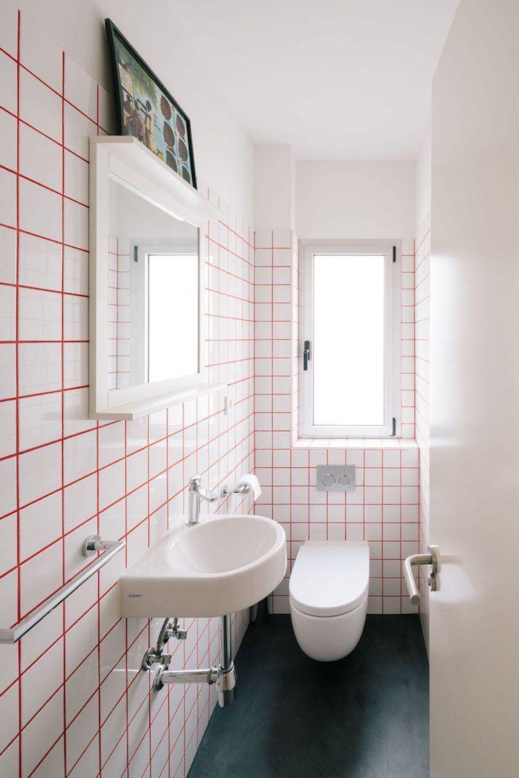 Carrelage Blanc Joint Noir a vous de trouver la petite salle de bain moderne de vos