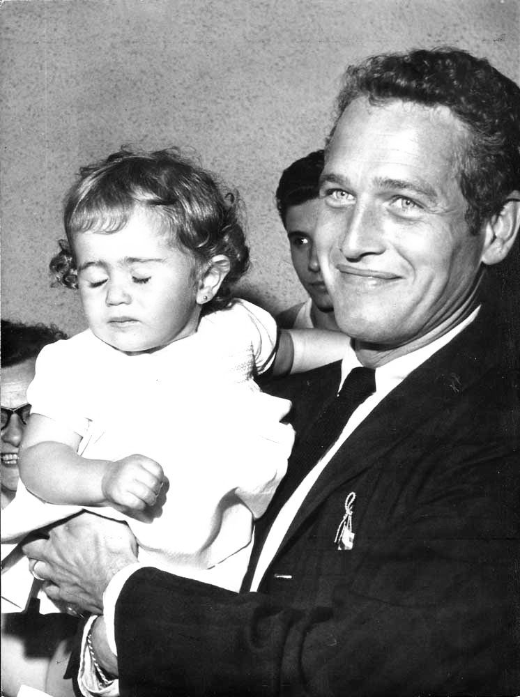 Paul Newman and daughter Claire