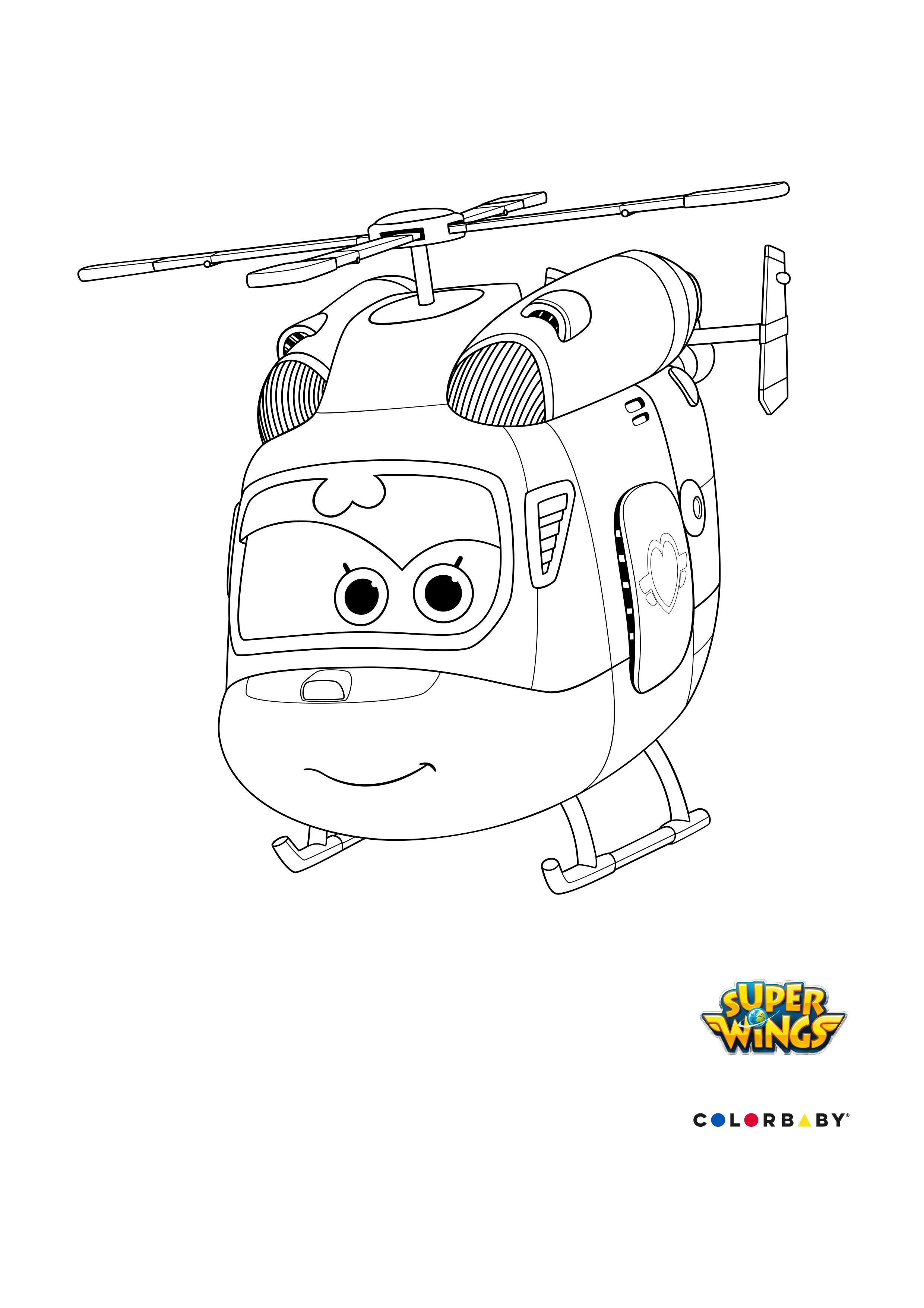 dibujos-colorear-super-wings-dizzy | Dibujos Colorear Niños ...