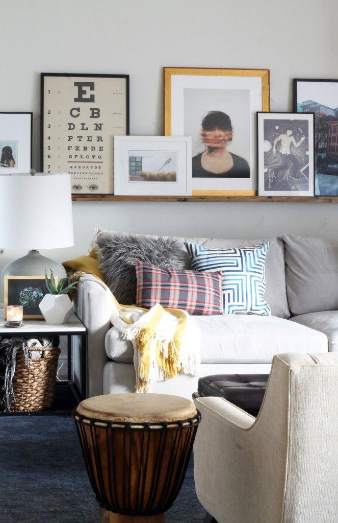 How To Diy An Art Ledge Living Room Inspiration Living Room Remodel Living Room Designs