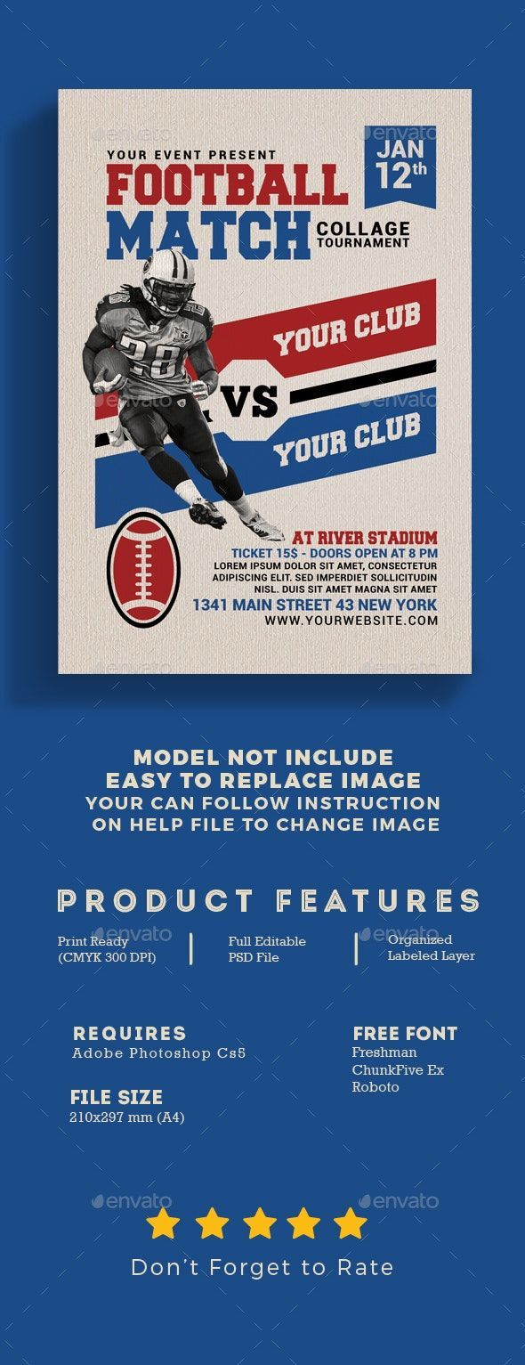 American Football Match Flyer  Events Flyers American Football Match Flyer  Events Flyers