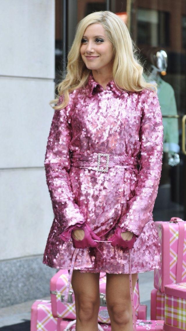 Sharpay Evans sparkly pink dress | Ashley Tisdale | Pinterest ...